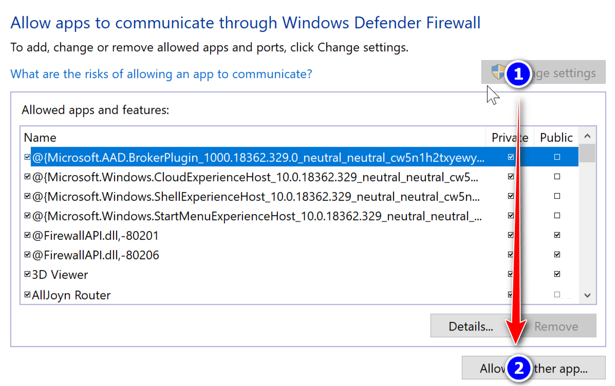 ErpNet.FP мрежа windows Firewall